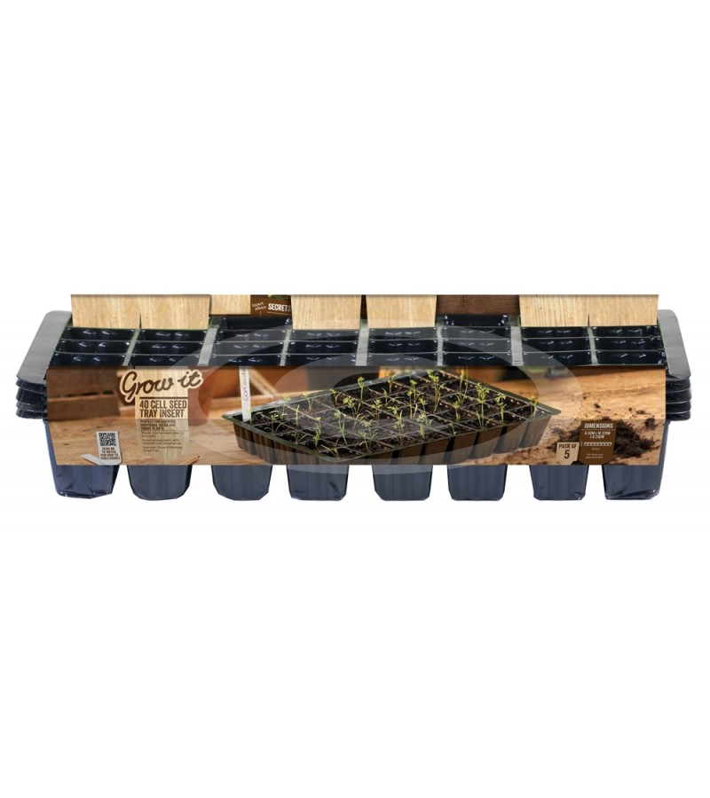 Grow It - 40 Cell Seed Tray Insert  (Pack of five)