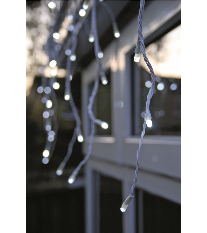 240 White LED Snowing Icicles