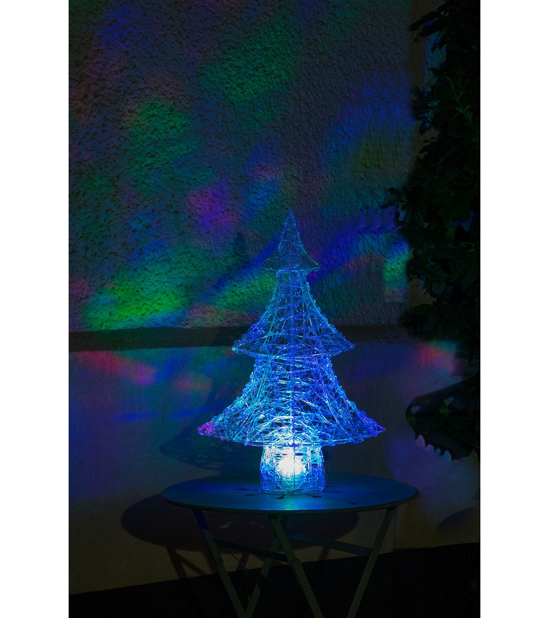 Northern Lights Acrylic Tree with Multicoloured Disco Lights - 65cm