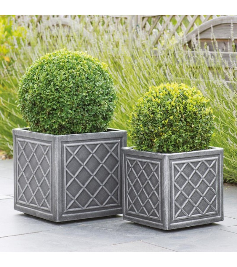 Stewart Lead Effect 32 cm Square Planter