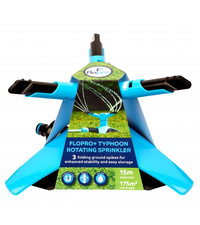 Flopro Typhoon Rotating Sprinkler - Plus Range