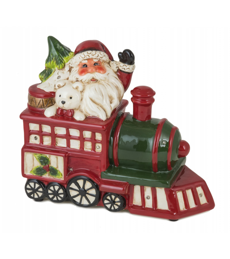 Musical Ceramic Santa Express