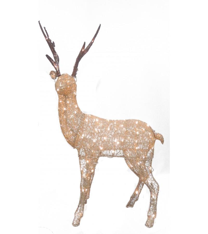 Fabric Standing Reindeer 183cm