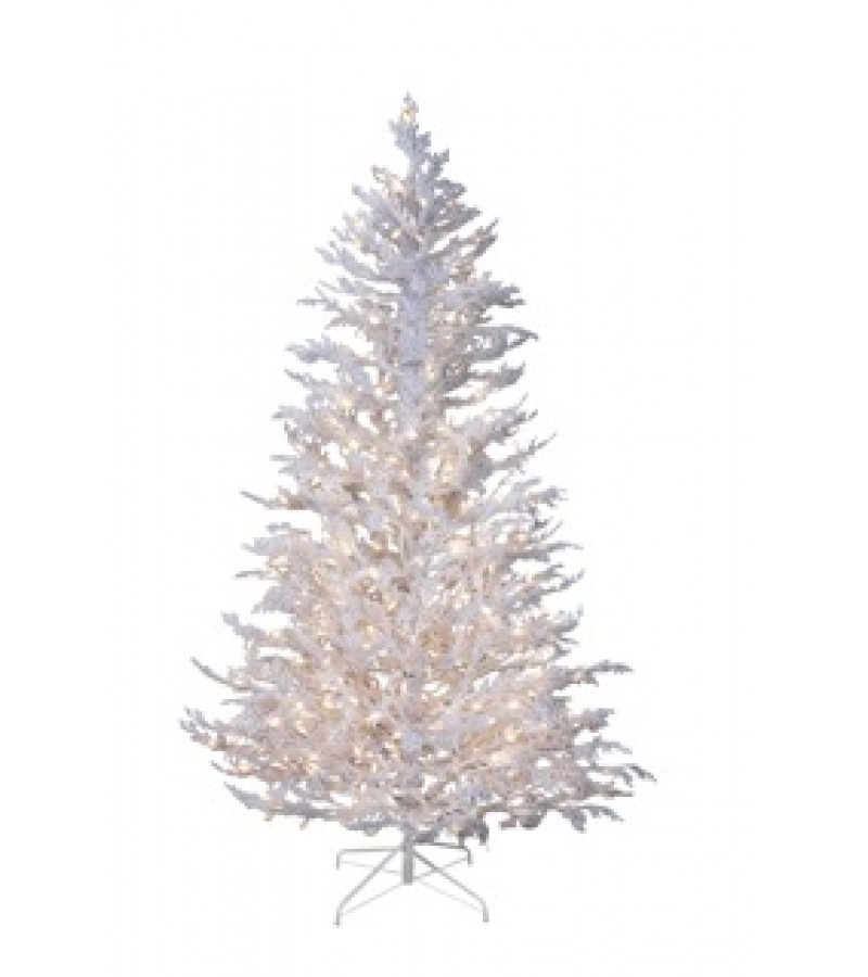 9 Flocked Christmas Tree