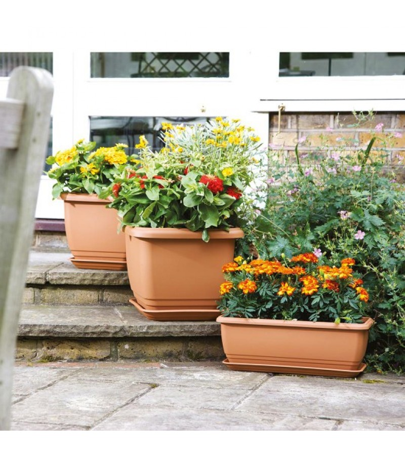Stewart Terracotta 70cm Balconnière Trough