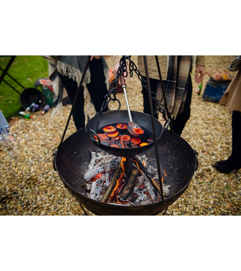 Kadai Cooking Bowl with 3 chains to fit 60cm Firebowl