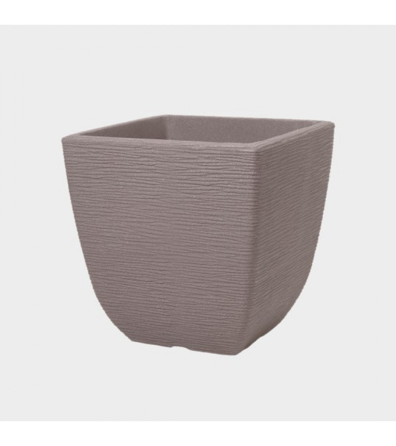Cotswold 32cm Square Dark Brown Planter