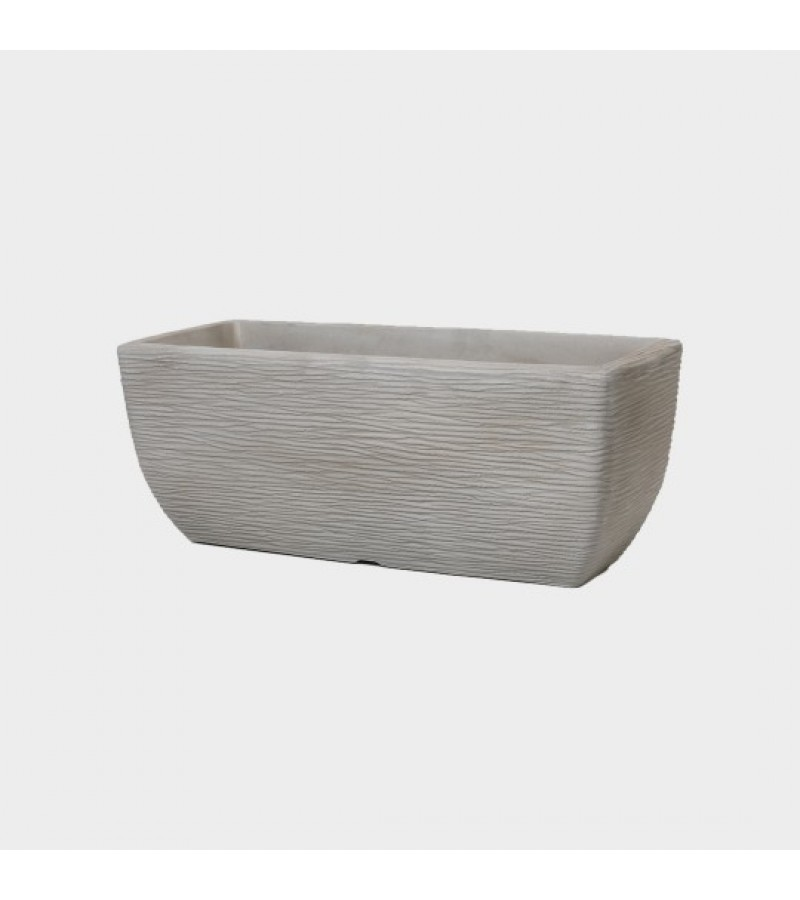 Cotswold 60cm Limestone Grey Trough Planter