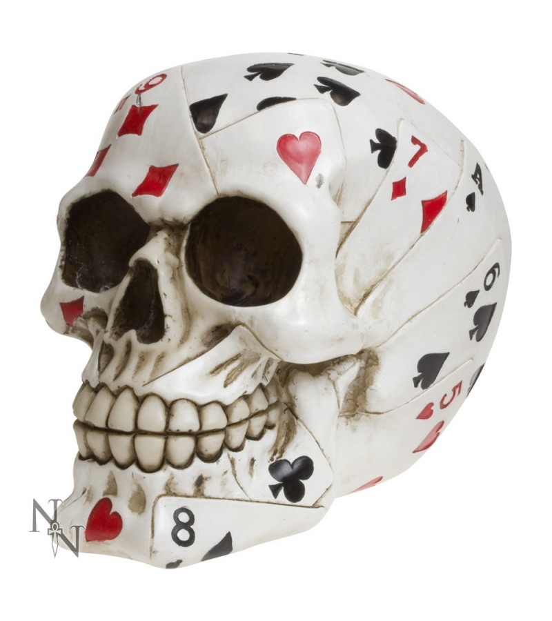 """Dead Man's Hand"" Skull 15cm"