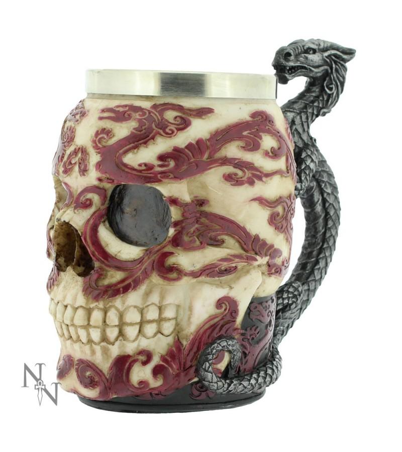 Eastern inspired Dragon Skull Tankard