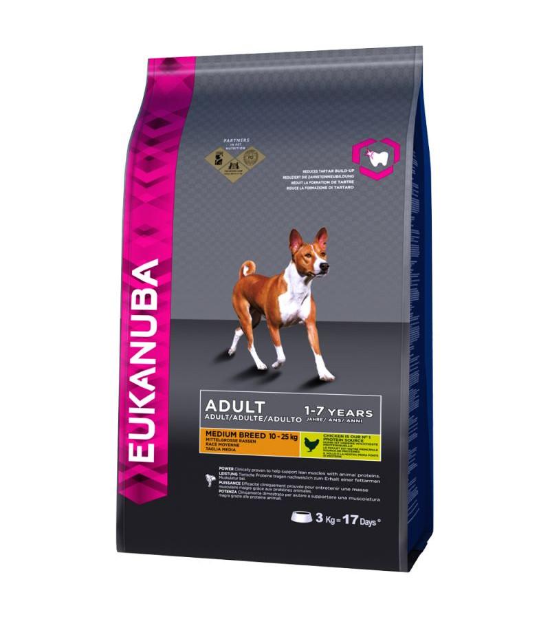 Eukanuba Adult (Medium Breed) Dry Food - 12Kg