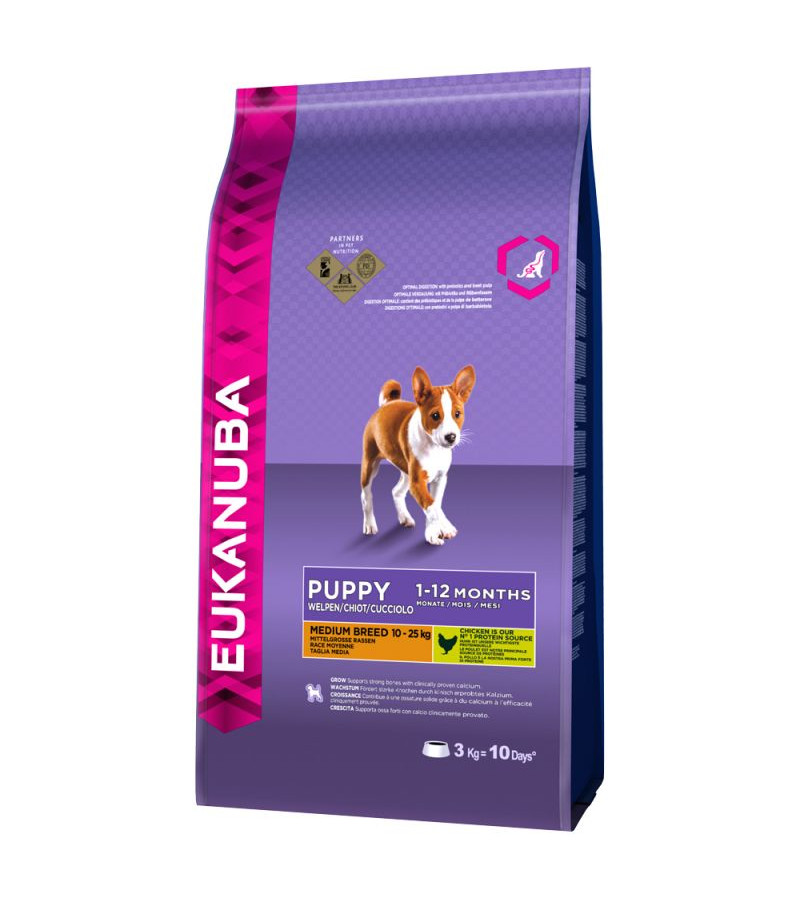 Eukanuba Puppy (Medium Breed) Dry Food - 12Kg