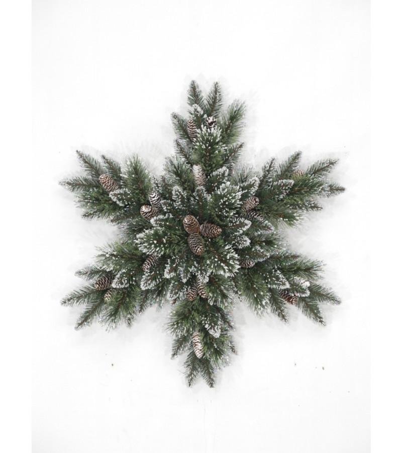 "Glittery Bristle Pine 32"" Snowflake"