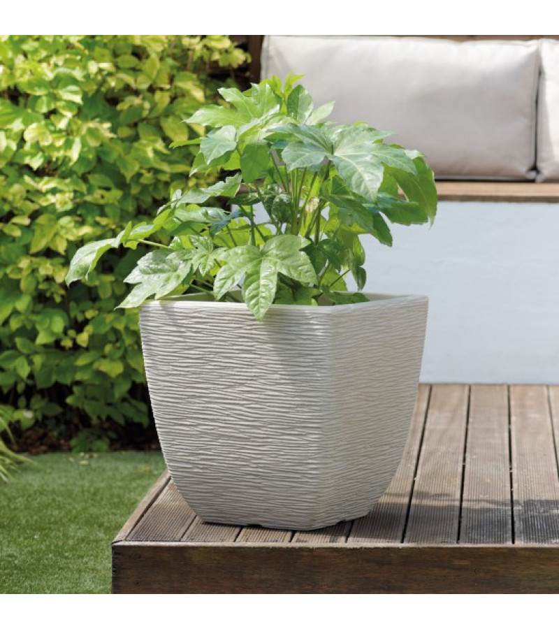 Cotswold 32cm Square Limestone Grey Planter