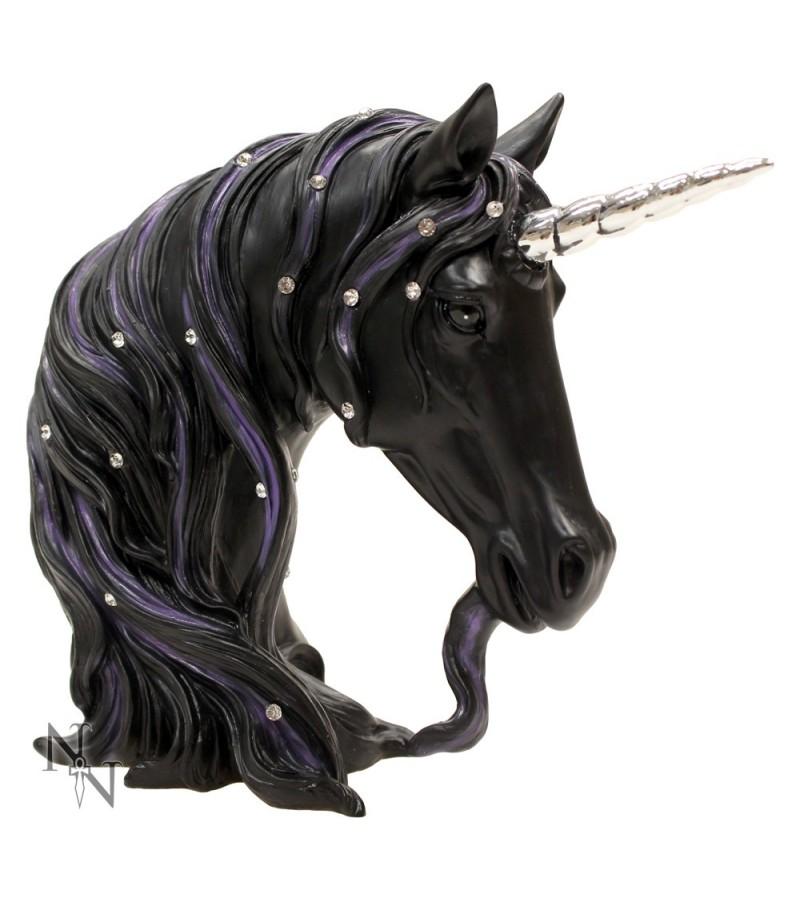 Jewelled Midnight Unicorn Bust 15cm