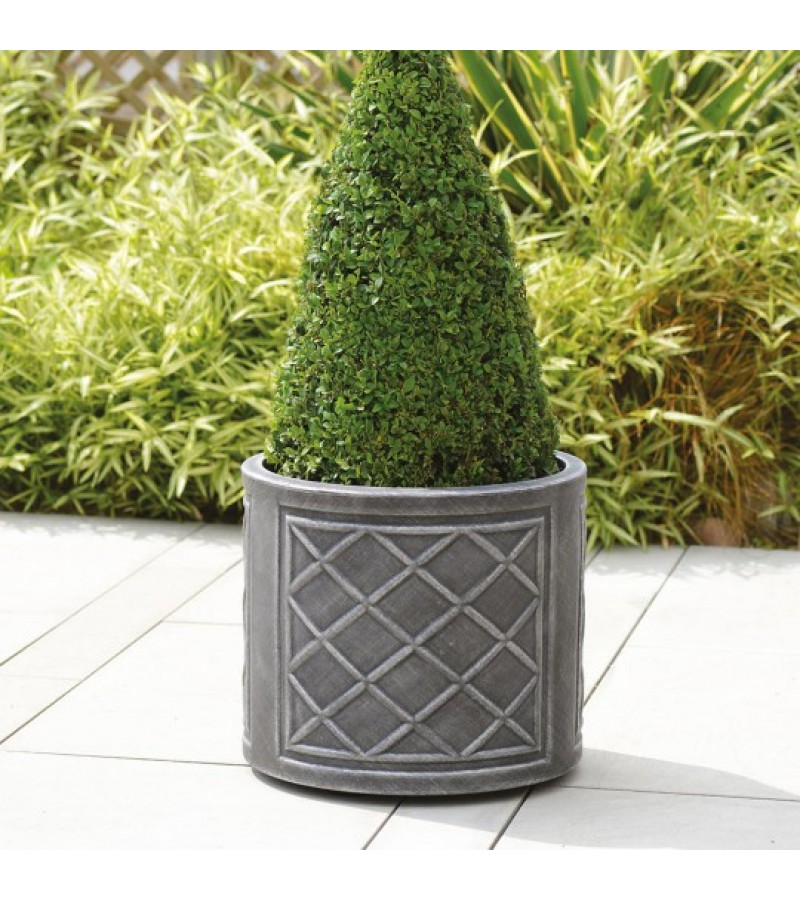 Stewart Lead Effect 44 cm Round Planter