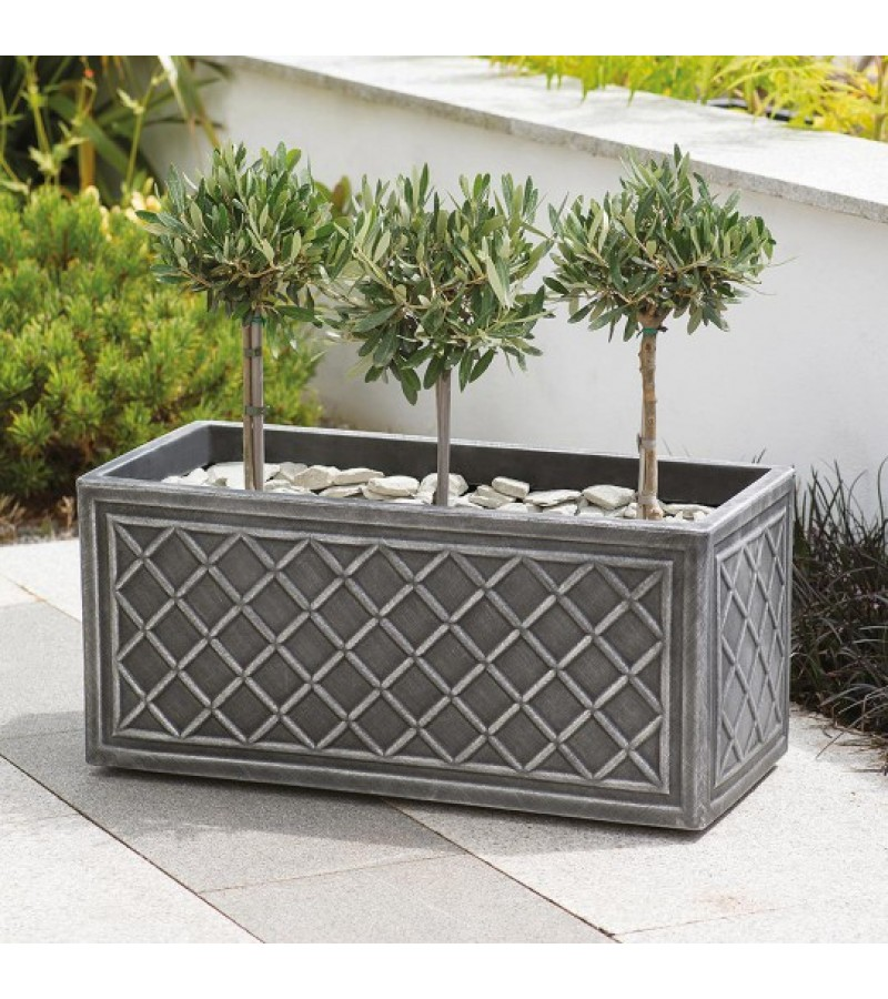 Stewart Lead Effect 70 cm Trough Planter