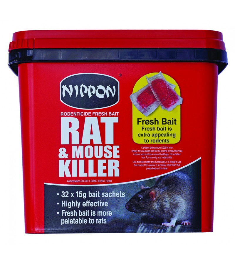 Rat and Mouse Killer - 32 x 15g Sachets
