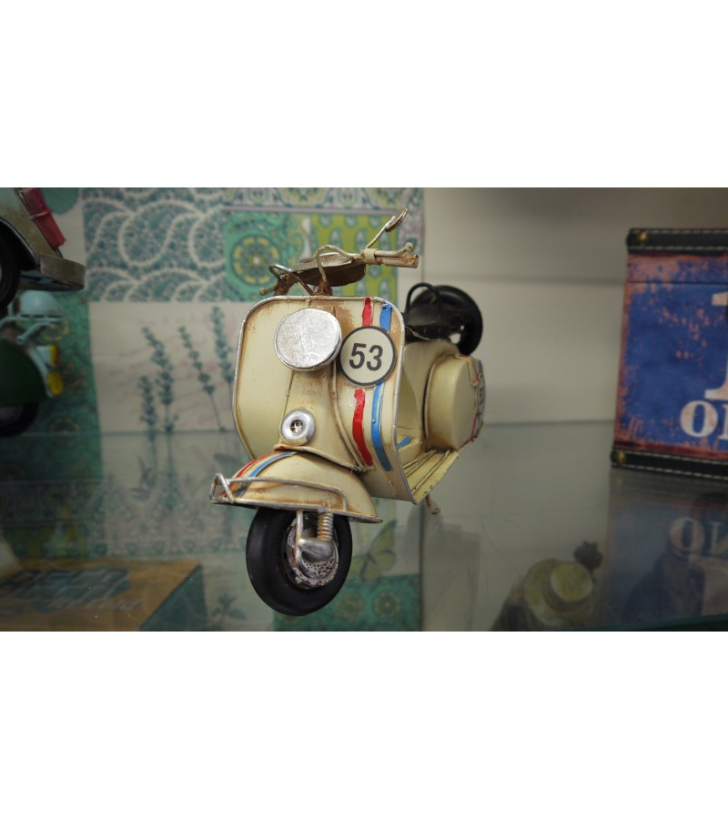 Vintage Cream Vespa Scooter Ornament