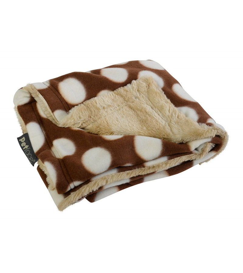 """Warm and Cosy"" Pet Blankets cream spots"
