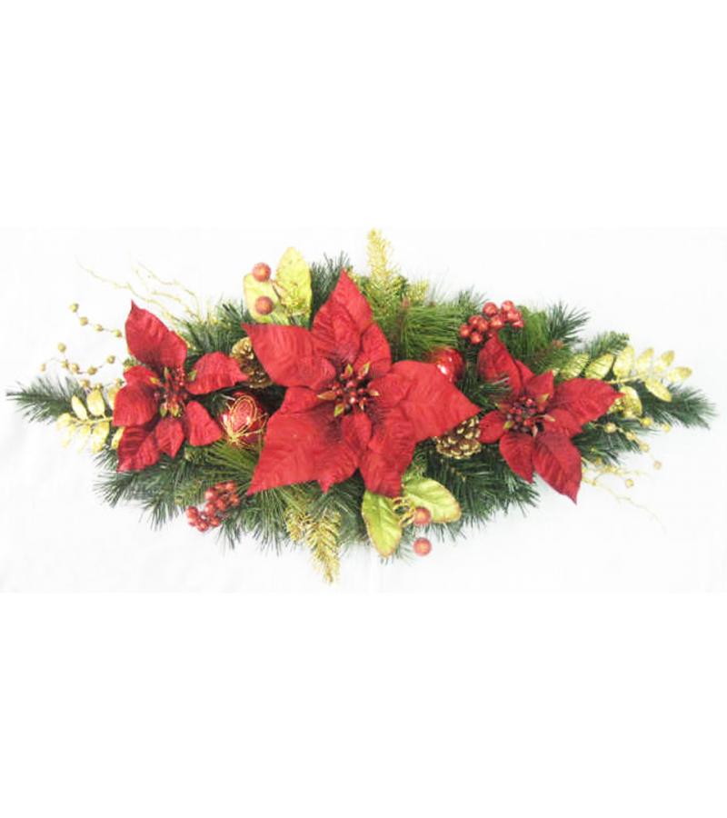 Red Poinsettia Swag - 80cm