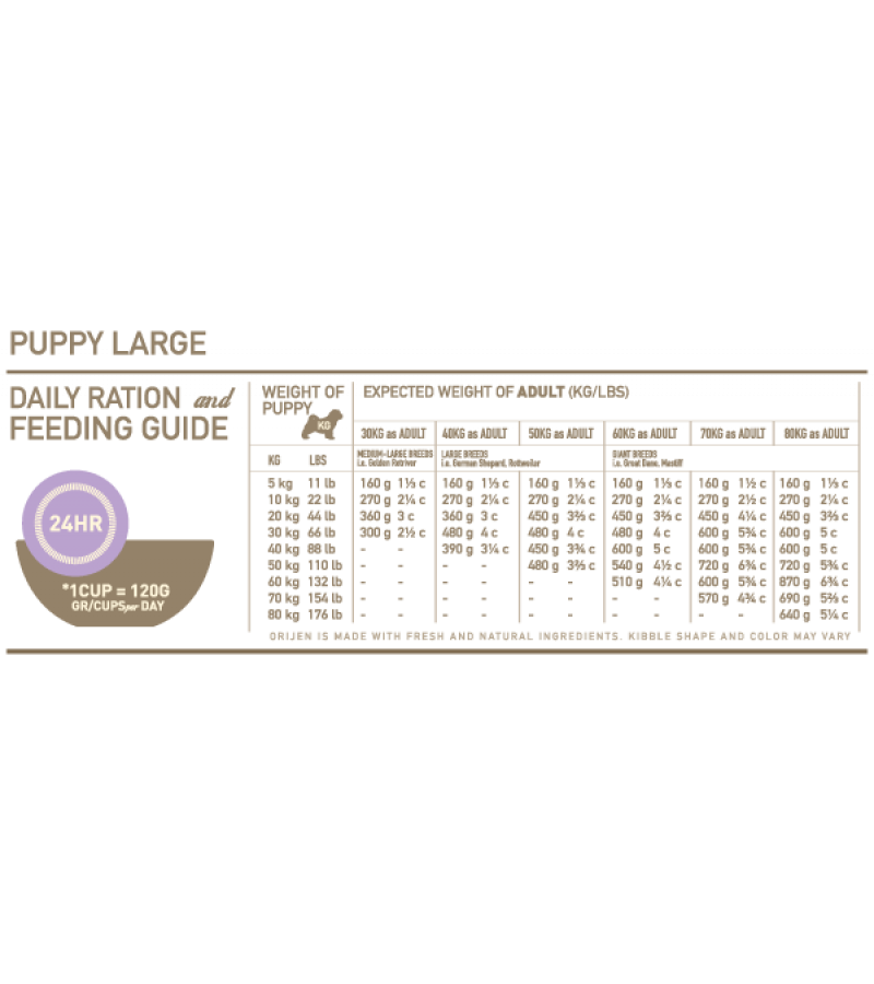 Orijen Puppy Large (Poultry Eggs & Fish) - 11.4kg