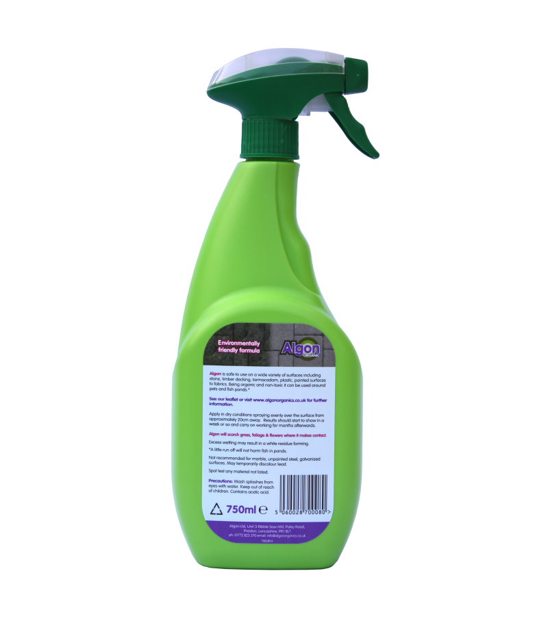 Algon Path, Patio and Decking Cleaner - Spray Top - 750ml