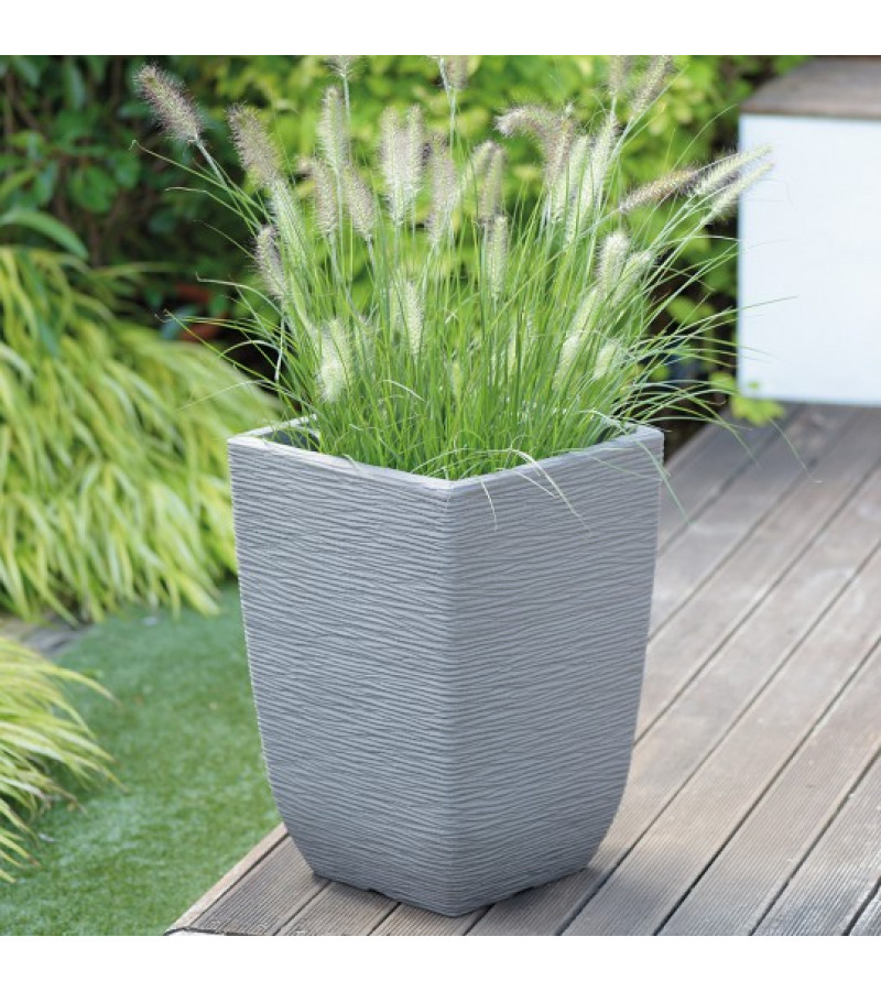 Cotswold Tall 33cm Limestone Grey Planter