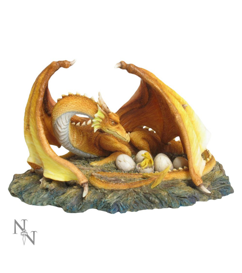 """The Brood"" Dragon and baby figurine"