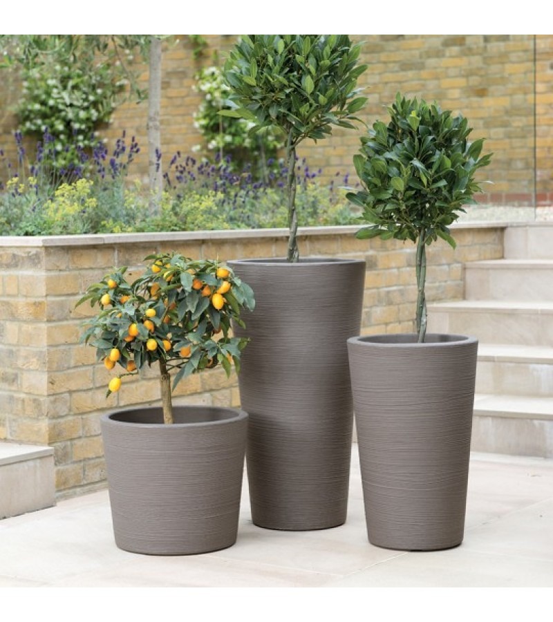 Stewart Dark Brown Varese Tall Planter