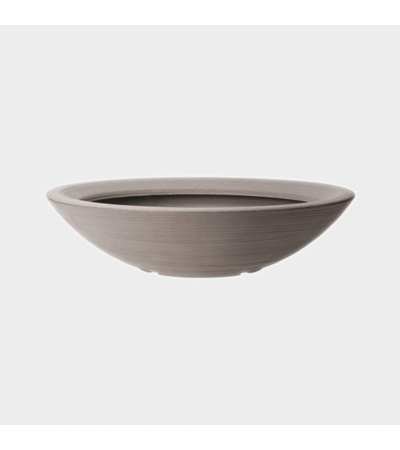 Stewart Dark Brown Low Bowl Planter
