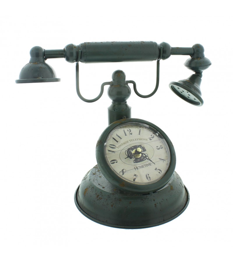 Widdop Metal Clock (Old Fashioned Telephone Design)