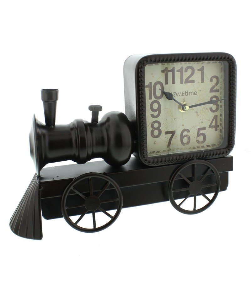 Widdop Metal Clock (Vintage Train design)