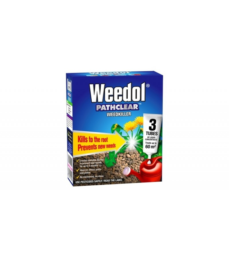 Weedol Pathclear Weed Killer - 3 Tubes