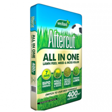 Aftercut All In One Lawn Feed, Weed & Moss Killer 400m2 bag