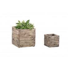 Woodlodge Driftwood Pots Square