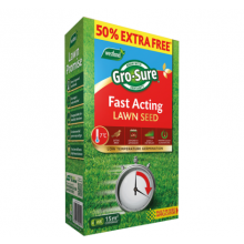 Gro-sure Fast Acting Lawn Seed 10m2 + 50% Extra Free