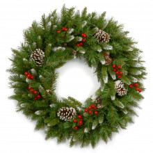 Frosted Berry Wreath - 24""