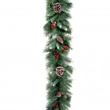 Frosted Berry Garland - 9ft