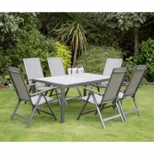 Milan 6 Seater Dining Set -160cm