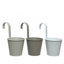 Iron Balcony Planter (Light Grey) Small