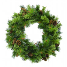 Killington Pine Wreath (with Cones) - 24""