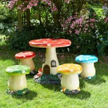 Children's 5 Piece Toadstool Garden Set