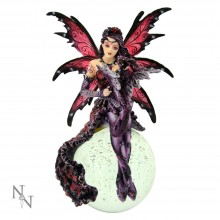 """Perpetual Dreams"" Crystal ball with Fairy and Dragon figurine."