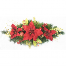Red Poinsettia Swag - 80cm