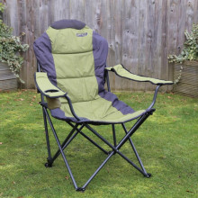 Quest Elite Deluxe Comfort Padded Reclining Folding Chair - Sage