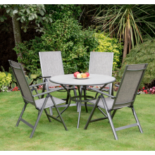 Milan 4 Seater Dining Set -110cm