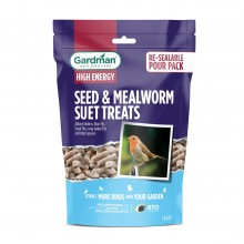Gardman Seed and Mealworm Suet Treats 550g Pack