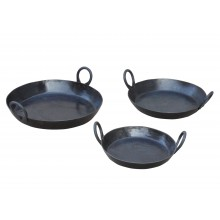 Kadai Set of 3 Skillets for firebowl / firepit