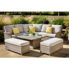Hartman Heritage Grand Square Casual Dining Set with Adjustable Table
